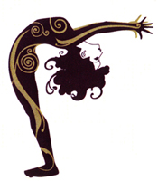 Yoga women backbend clipart